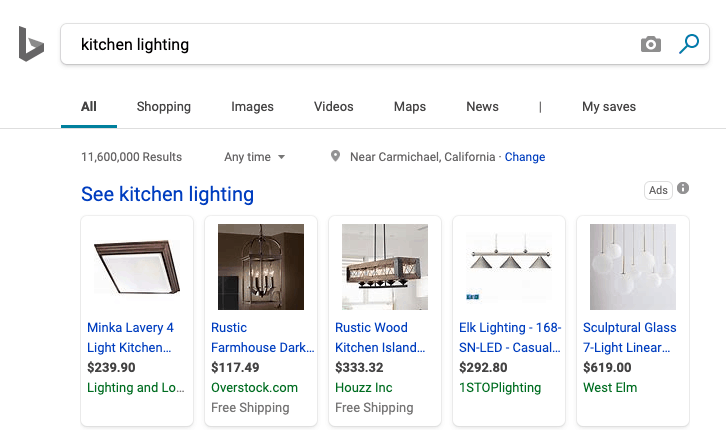 Bing Product Listing Ads