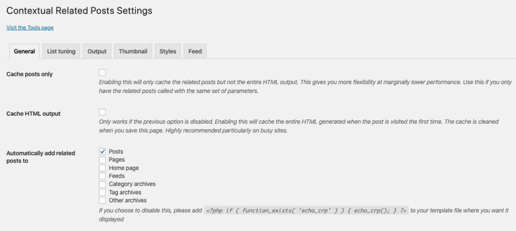 Contextual Related Posts WP Plugin