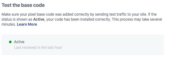 Facebook Ads Test Code
