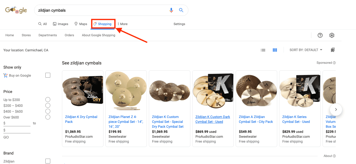Google Free Product Listings